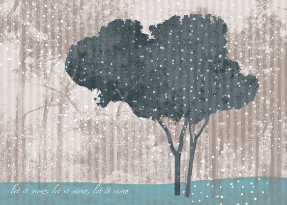 Cheekytree Let It Snow Christmas Card 2012